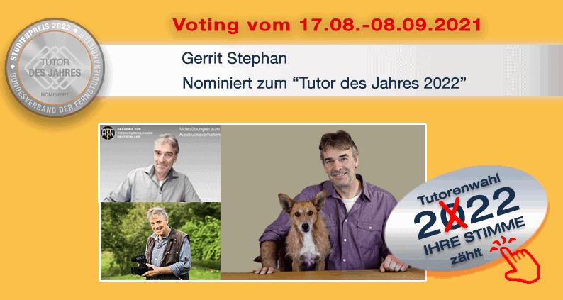 Gerrit Stephan, Dozent an der ATN, nominiert für den Tutor des Jahres 2021