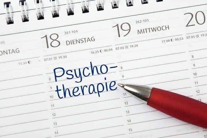 Heilpraktiker für Psychotherapie Ausbildung - Eintrag Psychotherapiesitzung im Kalender